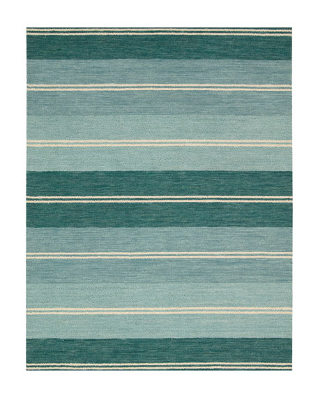 "Villa Stripes Flatweave Runner, 2'3"" x 8'"