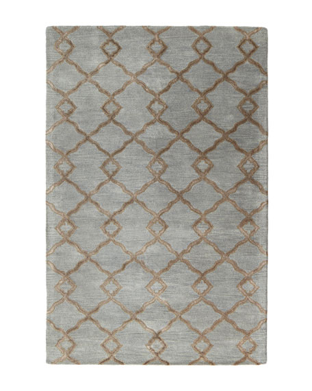 "Crossing Diamond Rug, 7'9"" x 9'9"""