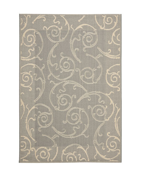"Giddings Scroll Rug, 5'3"" Round"