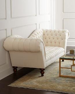 Ellsworth Neutral Recamier Sofa