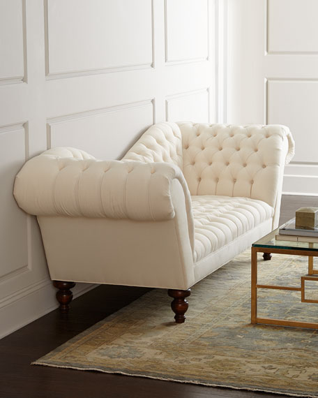 Ellsworth Neutral Recamier Sofa 94""