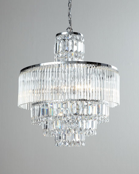 8 Light Crystal Chandelier: ,Lighting