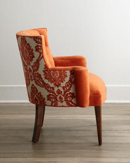 Bright Tiffany Damask Chair