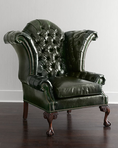 Liberty Creek Collection Leather Wingback Chair