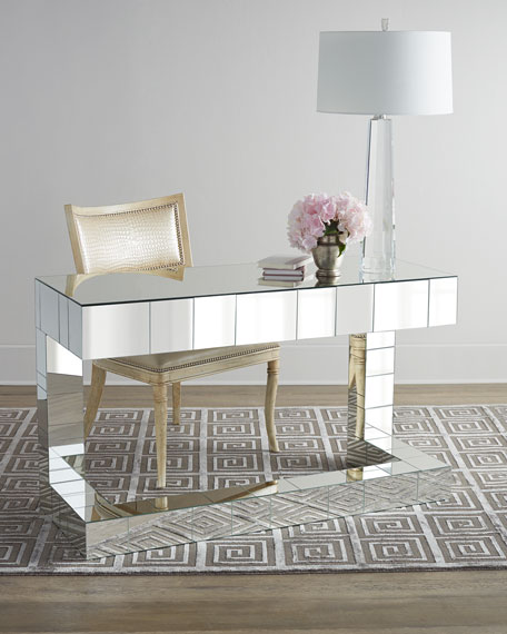 Quinlan Mirrored Writing Desk