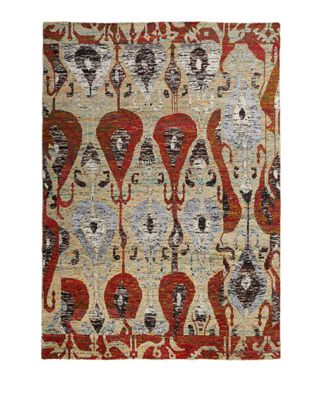 Poppy Silk Mat, 2' x 3'