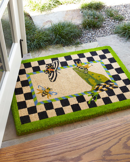 & MacKenzie-Childs FROG ENTRANCE MAT