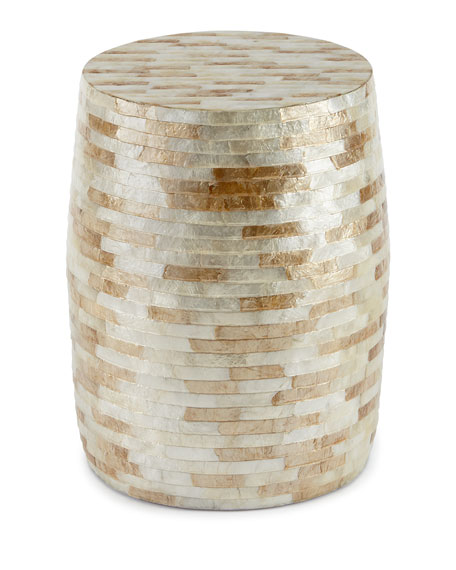 Capiz Barrel Garden Stool