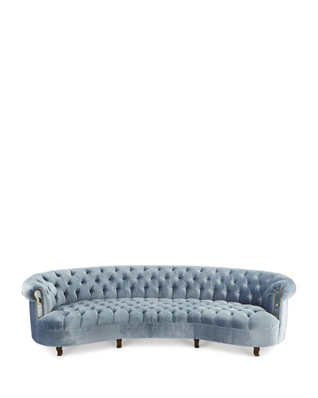 Rebecca Mirrored Tufted Sofa 122""