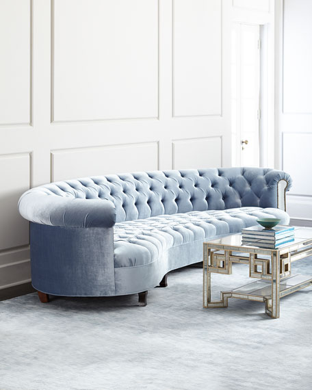 Haute House Rebecca Mirrored Tufted Sofa 122