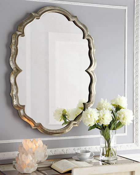 Centerpoint Silver-Tone Scalloped Mirror