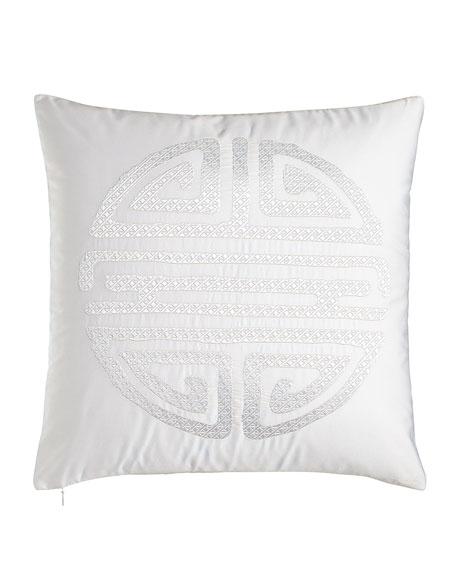 "Tsuba Geo Pillow, 18""Sq."