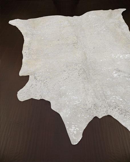 NourCouture Glacier Pace Hairhide Rug, 5' x 8'