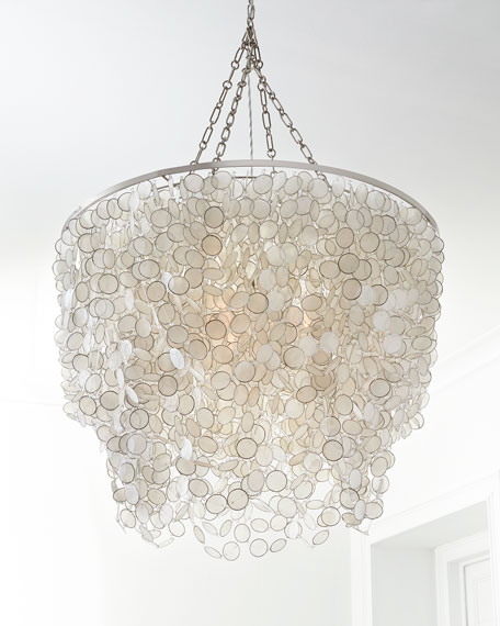 Bernadette 3 light capiz chandelier mozeypictures Choice Image