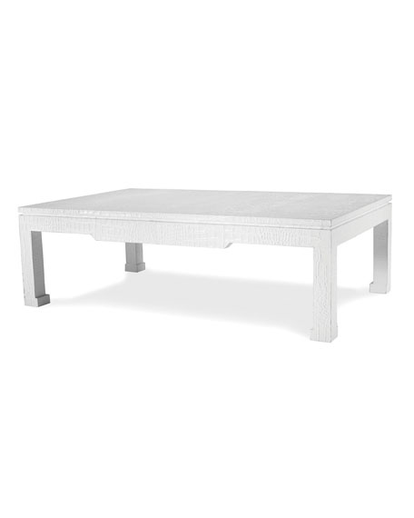 jonathan adler preston white coffee table. Black Bedroom Furniture Sets. Home Design Ideas
