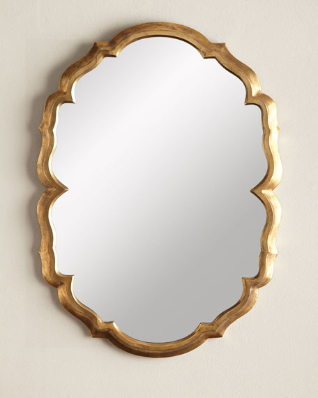 Jamie Young Centerpoint Brass Scalloped Mirror