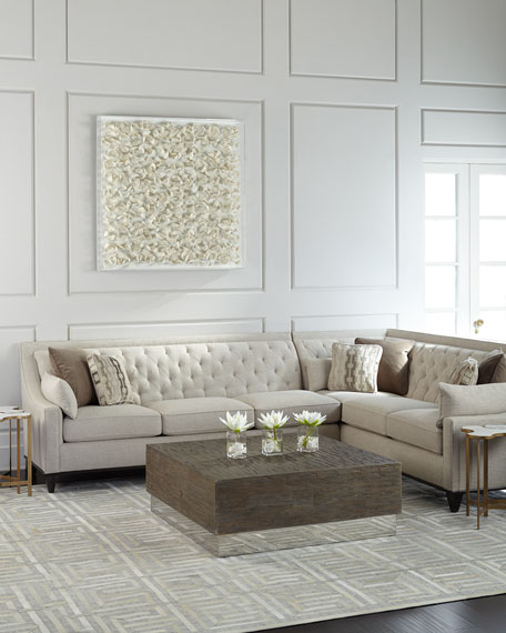 Charmant Linzie Linen Sectional Sofa