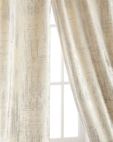 "Two 120""L Moderne Curtains"