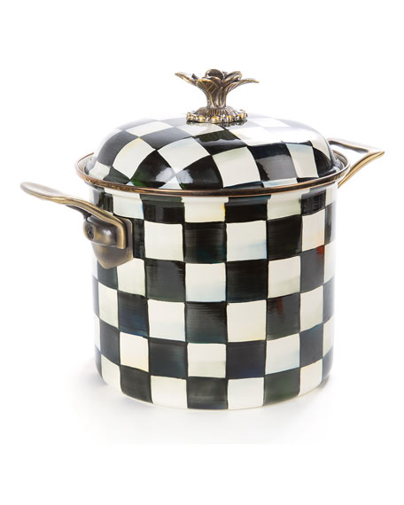 Courtly Check Enamel 7-Quart Stock Pot