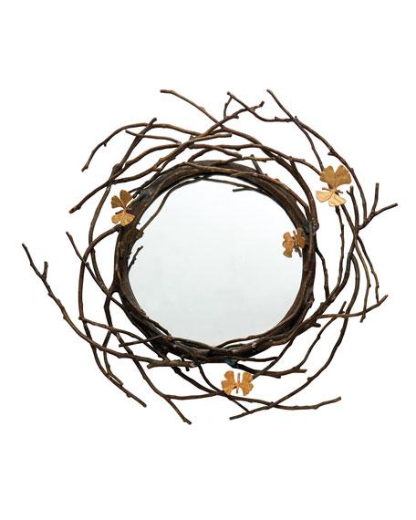 Butterfly Ginkgo Mirror