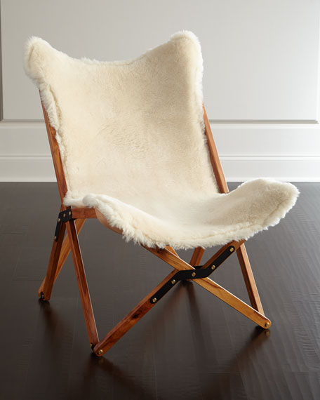 Marvelous Texas Rover Company Dollie Sheepskin Chair