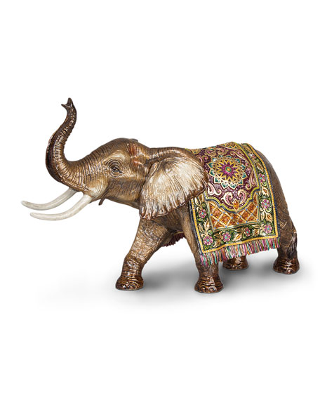 Tapestry Large Elephant Figurine