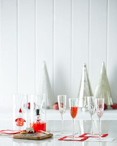 Confetti Champagne Flutes, 4-Piece Set