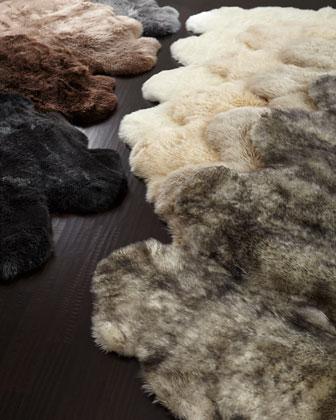Sheepskin Rug, 6' x 7'5