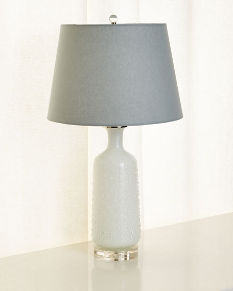 Textured Glass Lamp
