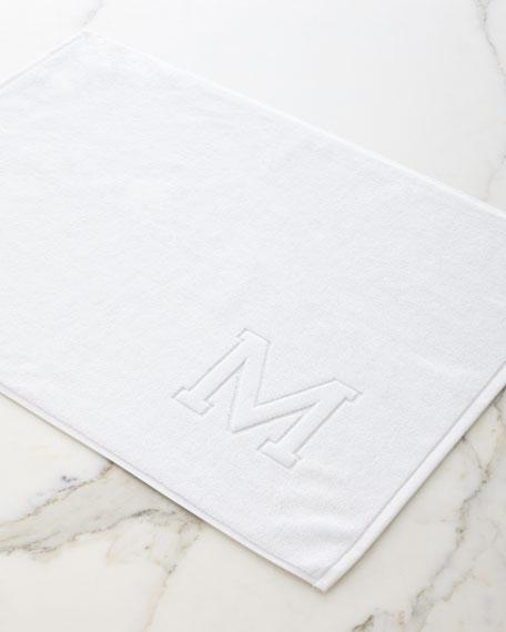 Matouk Auberge Monogrammed Tub Mat