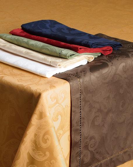 """Plume Jacquard 70"""" x 126"""" Tablecloth"""