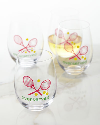 Overserved Wine Glasses, Set of 4