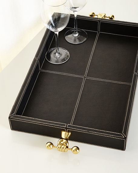 Barbell Leather Tray