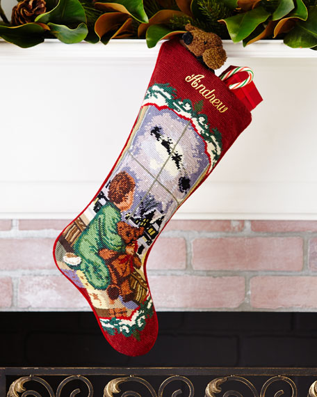 Baby Boy Needlepoint Stocking