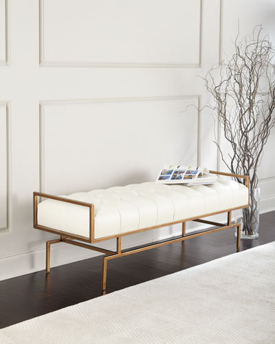 Designer Benches : Mirrored & Sheepskin Benches at Neiman Marcus ...