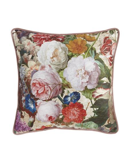 Laila Square Floral PIllow