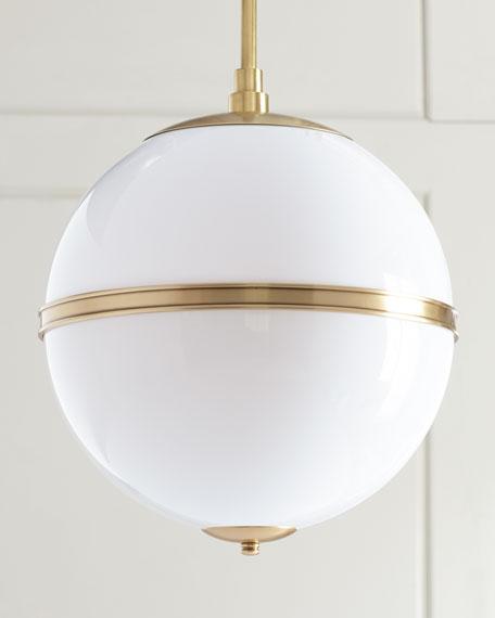 Truax 3-Light Aged Brass Mini Chandelier