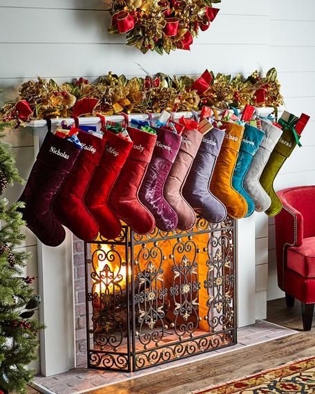 D. Stevens Velvet Christmas Stocking