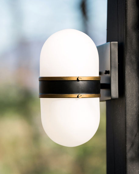 Crystorama Capsule Small 1-Light Sconce