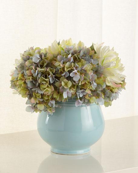 Smoke Blue Floral