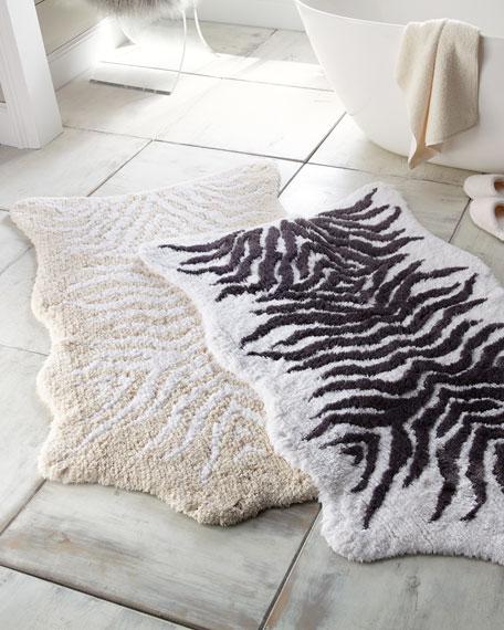 Mountain Zebra Bath Rug