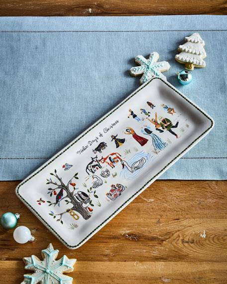 Juliska Twelve Days of Christmas Rectangular Hostess Tray