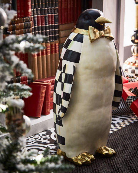 Courtly Check Grand Penguin Statue