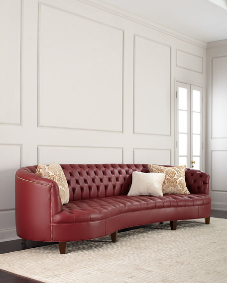 Haute House Magnolia Oxblood Tufted