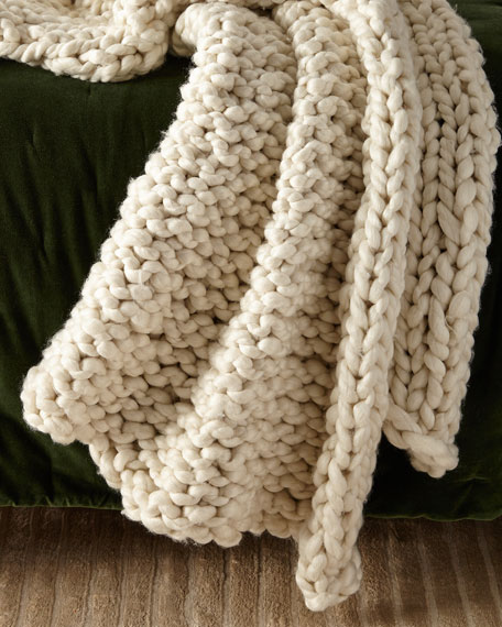 Hannah Chunky Knit Throw