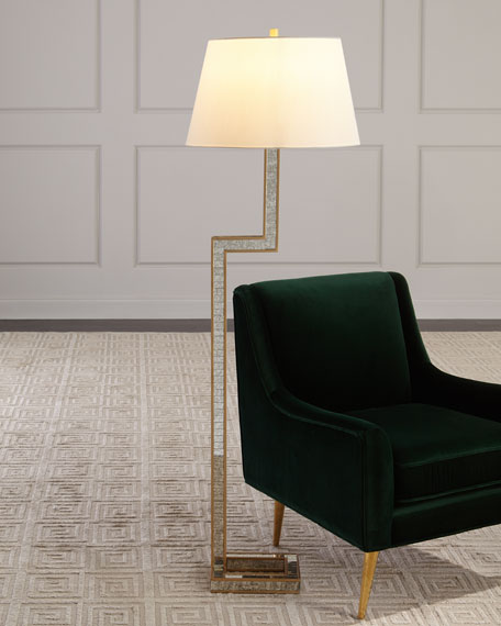 Hazel Mirrored Floor Lamp