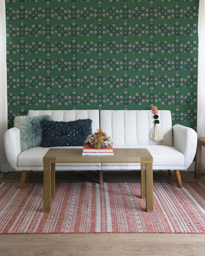 Block Print Floral Removable Wallpaper