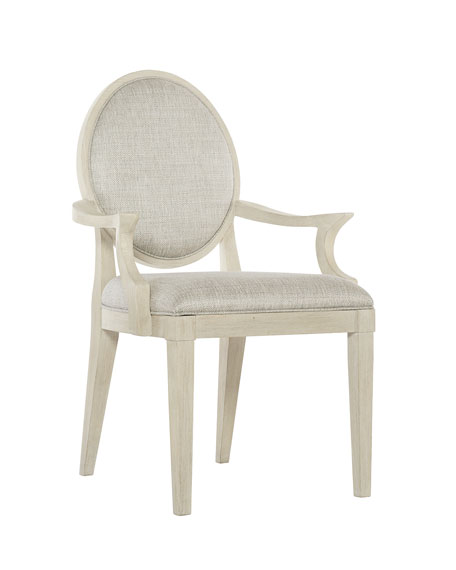 East Hampton Oval Back Arm Chairs, Set of 2