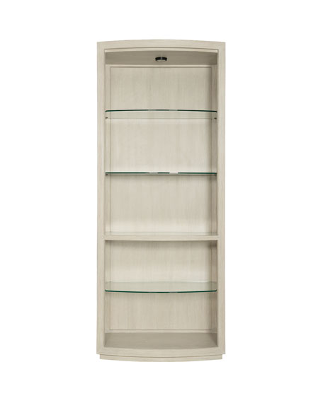 East Hampton Bow Front Display Curio