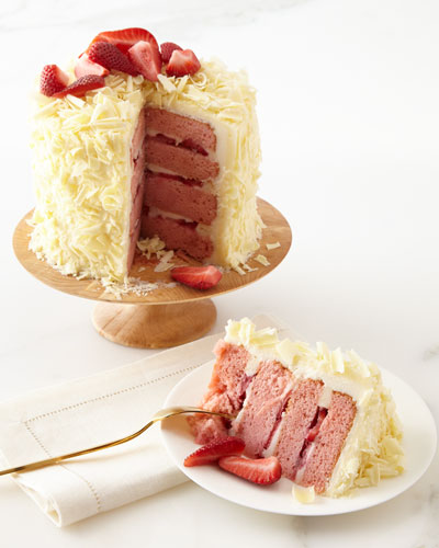 Strawberry Layer Cake  For 6-8 People